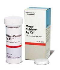 MEGA-CALCIUM 1 g poretabl 10 kpl