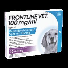 FRONTLINE VET 100 mg/ml paikallisvaleluliuos 4x2,68 ml