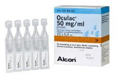 OCULAC 50 mg/ml silmätipat, liuos, kerta-annospakkaus 20x0,4 ml