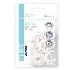 Clinic by Jordan Easy Clean Flosser Refill täyttöpakkaus 20 kpl