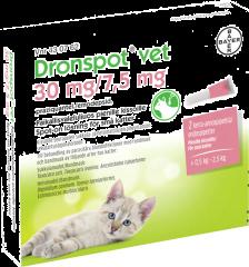 DRONSPOT VET 30/7,5 mg paikallisvaleluliuos (pienille kissoille)2x0,35 ml