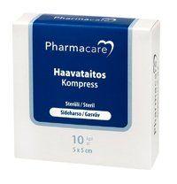 Pharmacare Haavataitos sideh. 5x5cm X10 kpl